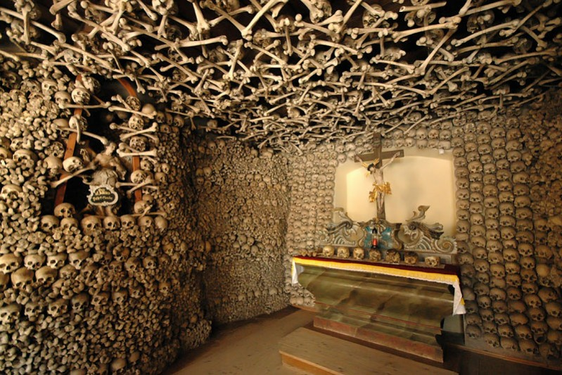 Catholic chapel in Poland skull & bones2