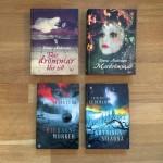 """Emma Anderssons böcker """"Där drömmar blir till"""" och """"Mardrömmar"""" med omslag av Lisa Zachrisson. Charlotte Cederlunds böcker """"Midnattsmörker"""" och """"Gryningsstjärna"""" med omslag av Anna Henriksson/Pixelpiraya"""